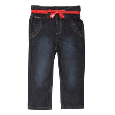 J by Jasper Conran-Girl's blue belted jeans-age 2-3