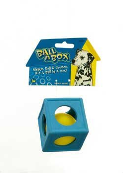 Ball In Box Dog Chew Toy