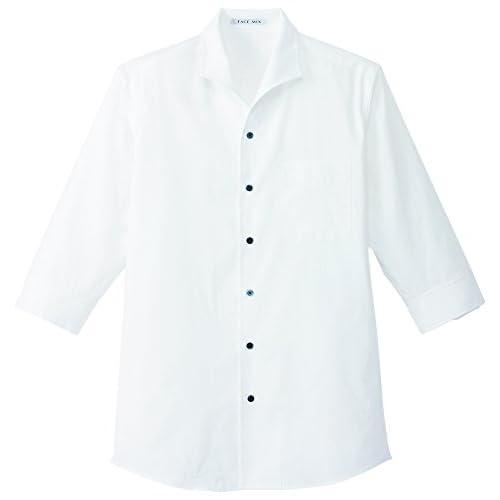 (フェイスミックス)FACEMIX メンズイタリアンカラー七分袖シャツ FB5034M 15 ホワイト 3L