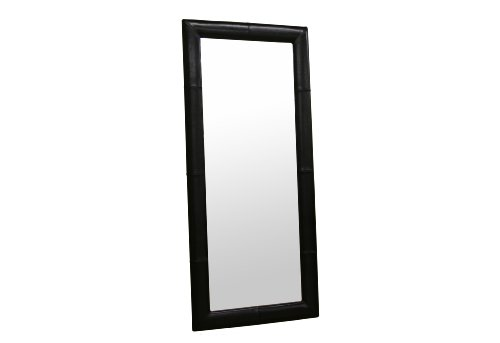 How to baxton studio bianca floor mirror with bycast for Black framed floor mirror