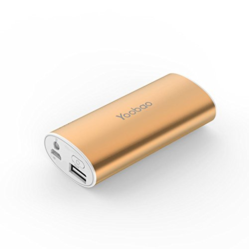Yoobao Yb6012 5200Mah Ultra-Slim Portable Charger External Battery Pack Power Bank With Led Flash Light For Apple Iphone6 5 5S 5C/Samsung Galaxy S5,S4,S3 Note 4, 3 -Gold