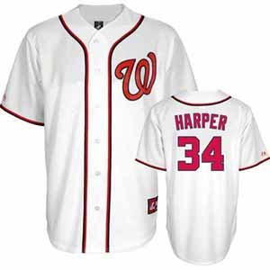 MLB Washington Nationals Youth Brice Harper 34 Replica Jersey, White, Medium at Amazon.com