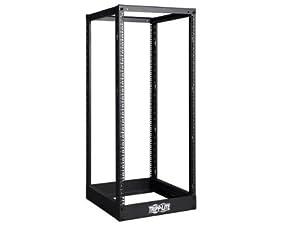 Tripp Lite SR4POST25 25U 4-Post Open Frame Rack Cabinet Square Holes 1000lb Capacity