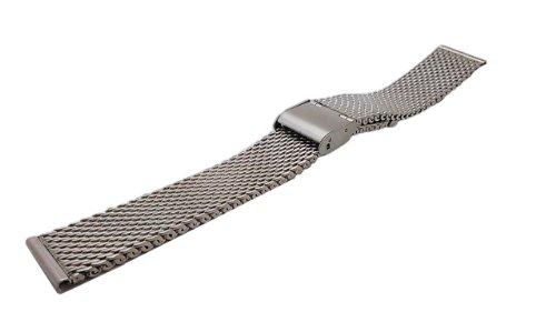 Fursts 腕時計用ベルト ステンレスメッシュ メタルスライドバンド ミラネーゼブレス 22mm HG-RP22 バネ棒 バネ棒はずし 収納バッグ(ネット限定デザイン)付セット