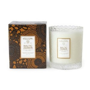 Voluspa Baltic Amber Boxed Scalloped Candle 6.2 oz