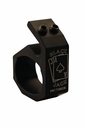Blackjack BJ002 6061 Aluminum Firefighter Helmet Flashlight Holder, For Streamlight 4-AA Pro-Poly Light