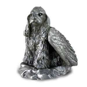 Pewter Angel Cocker Spaniel Dog Ornament Figurine Statue