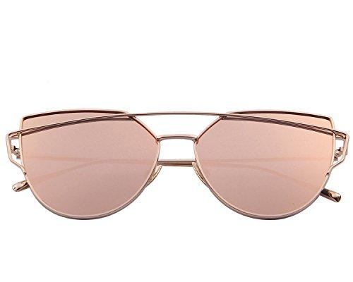 Merry 39 S Fashion Women Cat Eye Sunglasses Coating Mirror