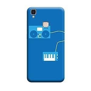 Qbic Designer Printed 3D High Quality Mobile Back Case Cover For Vivo V3 Max (Premium Matte Finishing Back Case )