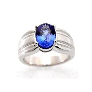 Tanzanite.com 14k White Gold Tanzanite Ring 2.00 TCW