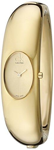 Calvin Klein K1Y23209 - Reloj de mujer de cuarzo, correa de acero inoxidable color oro