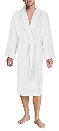 John Christian - Peignoir homme éponge Blanc 100% coton (XL)