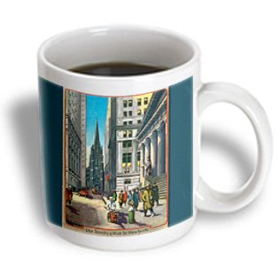 Mug_170143_1 Bln Scenes Of New York City Collection - Old Trinity And Wall Street New York City - Mugs - 11Oz Mug