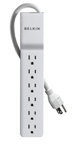 Find Bargain Belkin 6-Outlet Home/Office Surge Protector (4 Feet)4 Feet