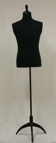 New Black Male Mannequin Dress Form Size Large 40