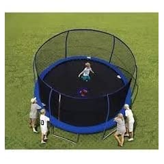 Buy 14' BouncePro Trampoline & Enclosure & Electron Shooter Game by Bounce Pro