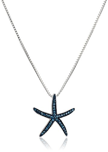 xpy-sterling-silver-green-diamond-starfish-pendant-necklace-457cm