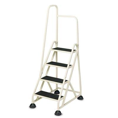 4-Step Ladder, w/ Left Handrail, 24-5/8 quot;x33-1/2 quot;x66 quot;, Beige