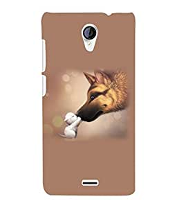 Fuson 3D Printed Cute Pair Designer Back Case Cover for Micromax Unite 2 A106 - D1042