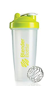 BlenderBottle Classic Shaker Bottle, 28-ounce, Clear/Green