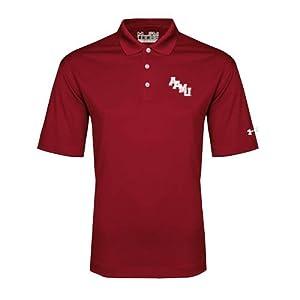 Alabama A&M Under Armour Cardinal Performance Polo