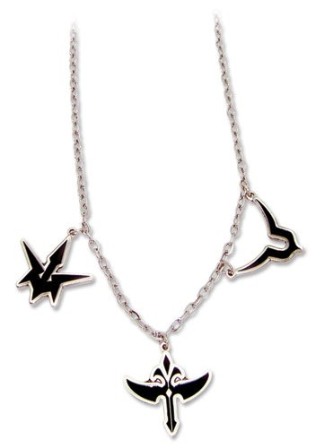 Code Geass: Three (Black Knights, Geass, and Knights of Round) Symbols Necklace