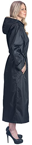 Shaynecoat Raincoat for Women Black and Gold (MEDIUM) (Women Raincoat With Hood compare prices)