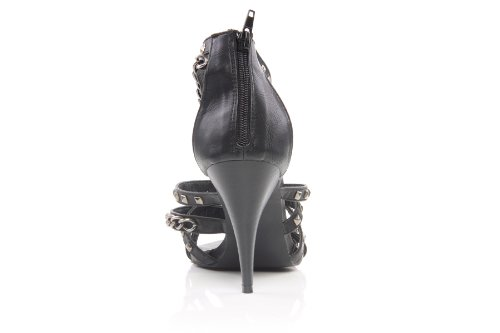 Unze Women Metal Detailing Strappy Summer, Party Evening Sandal - F1662