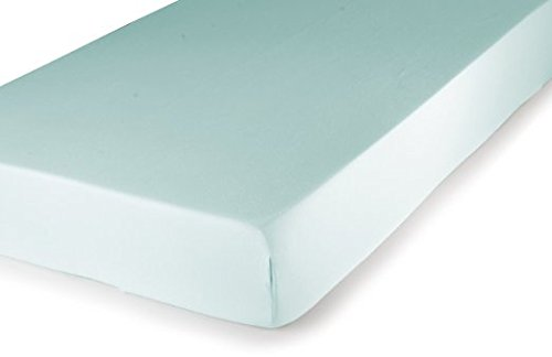 Carter's Easy Fit Jersey Bassinet Fitted Sheet, Aqua - 1