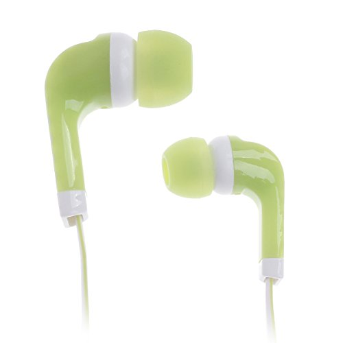 M15 Stylish Stereo In-Ear Earphones - Green + White (120Cm-Cable / 3.5Mm Plug)