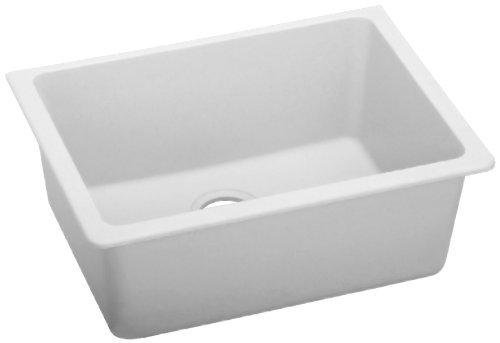 Elkay ELGU2522WH0 Gourmet E-Granite Undermount Sink, White