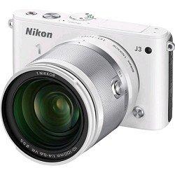 Nikon 1 J3 14.2 MP HD Digital Camera with 10-100mm VR 1 NIKKOR Lens (White)