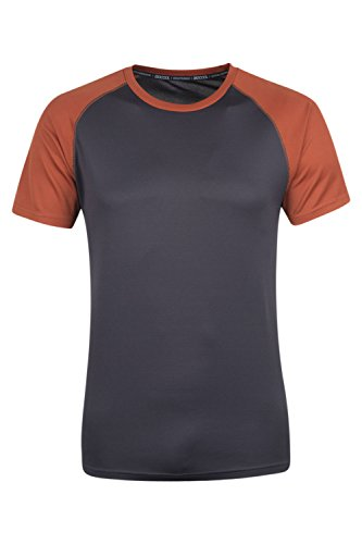 Mountain Warehouse T-shirt strato base a maniche corte Endurance da uomo Arancione M
