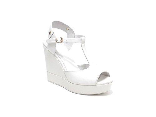Luciano Barachini scarpa donna, modello sandalo 6001, in pelle, colore bianco