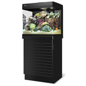 Red Sea Max 130D Plug & Play Coral Reef System 34 Gallon Aquarium w/ Stand & Starter Kit - Black
