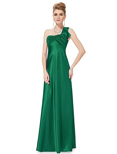 He09667Gr16, Green, 14Us,Ever Pretty One Shoulder Wedding Party Dresses 09667