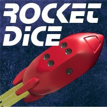 Rocket Dice d6 Pips - Red