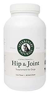 3 In 1 Dog Hip & Joint Supplement For Instant Pain Relief, Increased Mobility and an Anti-Inflammatory For Your Best Friend by Veterinary Naturals LLC