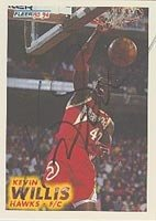 Kevin Willis Atlanta Hawks 1993 Fleer Autographed Hand Signed Trading Card - Nice... by Hall+of+Fame+Memorabilia