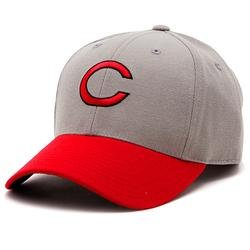 Cincinnati Reds 1961-66 Road Cooperstown Fitted Cap - Grey Scarlet 7 1 4 by MLB