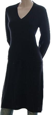 jette joop strickkleid langarm strick kleid mit angora und kaschmir anteil schwarz 38 amazon. Black Bedroom Furniture Sets. Home Design Ideas