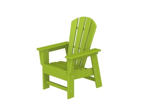Recycled Venice Beach Outdoor Patio Kid's Adirondack Chair - Electric Lime Green