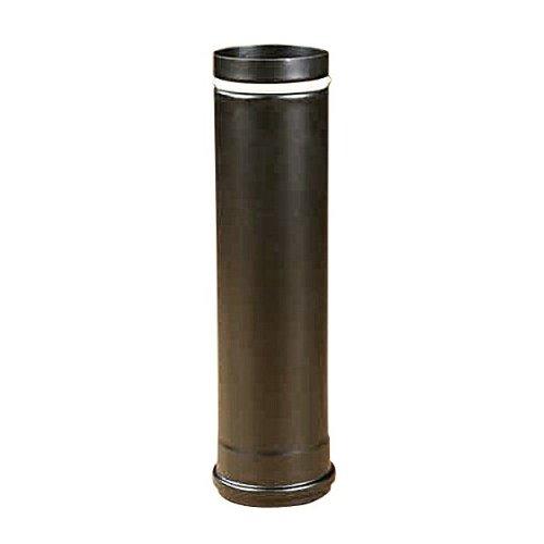 Rauchrohr, Ofenrohr Pellet-Rohr 0,50m schwarz-matt 80 ø 0,6mm stark