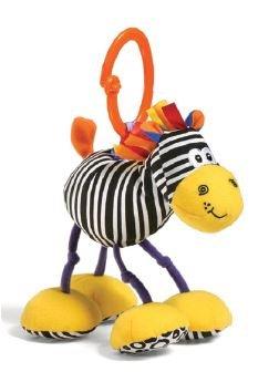 Jittery Pals Zebra Rattle