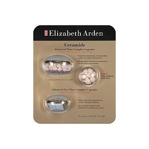 Elizabeth Arden Ceramide *127 CAPSULES * Advanced Time Complex / Advanced Eye Time Complex FULL KIT + Travel
