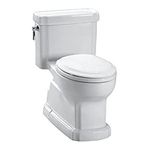 TOTO MS974224CEFG#01 Eco Guinevere One Piece Toilet with Sanagloss, Cotton White