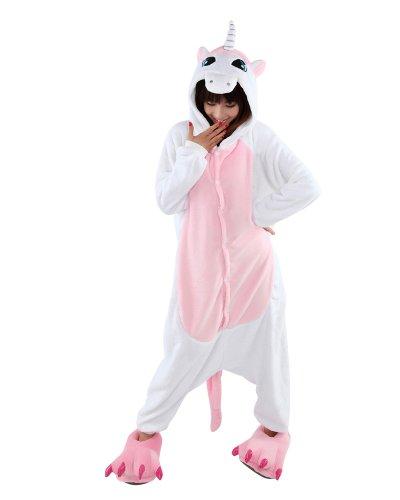 Keral Kigurumi Pigiama Adulto Anime Cosplay Halloween Costume Attrezzatura_Unicorno Rosa_M
