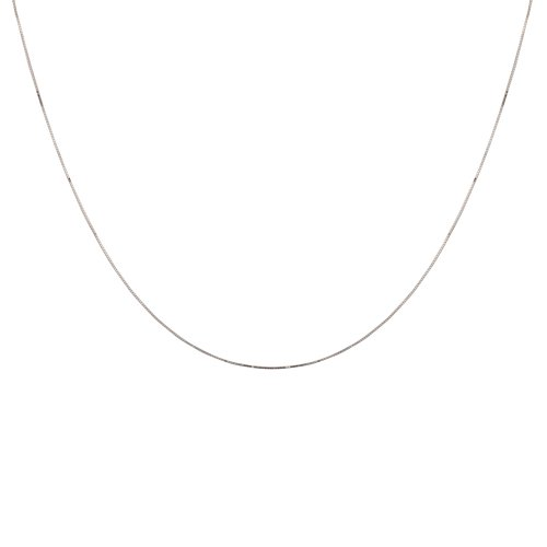 Duragold 14k White Gold Solid Snake Chain Necklace (.60mm), 20""