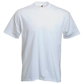 Fruit of the Loom T-shirt de qualité supérieure -  Blanc - Blanc - Large