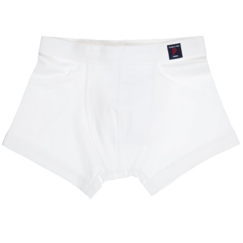 Polarn O. Pyret Big Boys' Solid Eco Boxer Shorts (6-12 Yrs) - 10-12 Years/Soft White front-513246